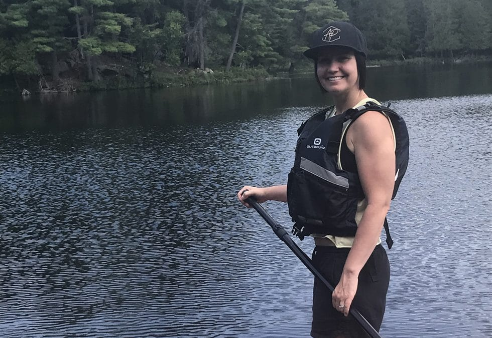 Andrea Parker paddle boarding