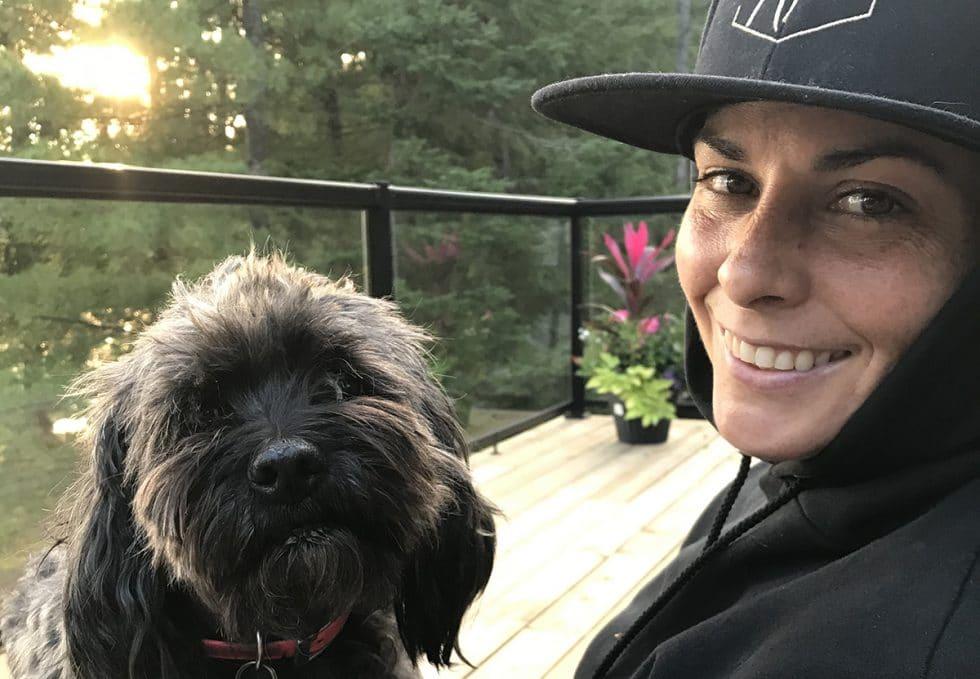 Mel Mills and dog